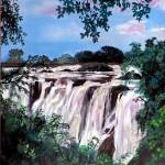 VIctoria Falls malet af Charmaine McLean