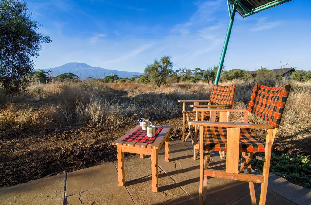 En udsigt til savannen og bjerget